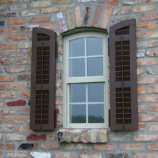 LAS Shutters Style Interior Colonial Vertical Rods