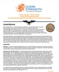 LAS Clear Strength Brochure Hurricane Panel