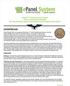 LAS Epanel Warranty System Hurricane Panel System